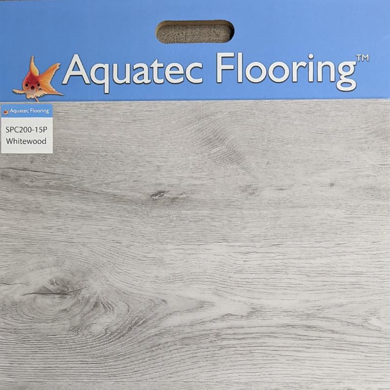 Aquatec-Flooring-WhitewoodAquatec Whitewood SPC offers a fresh take on whitewashed wood looks