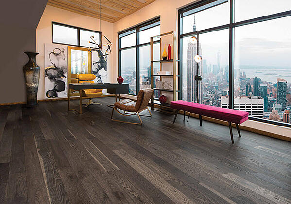 White Oak Character Lunar Eclipse Brushed wood floors from Mirage