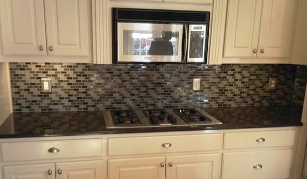 Use Small Glass Mosaics for Your Kitchen Backsplash