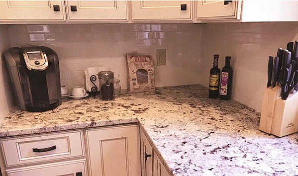 Who would think that white 3 x 6 Glass subway tile could be so perfect for a kitchen