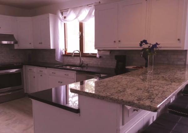 Try marble subway tile for your backsplash.
