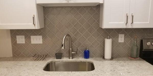 Consider Arabesque tile for your kitchen backsplash design