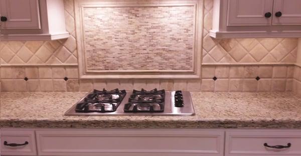 Combine Same-Size Backsplash Tile in Different Patterns