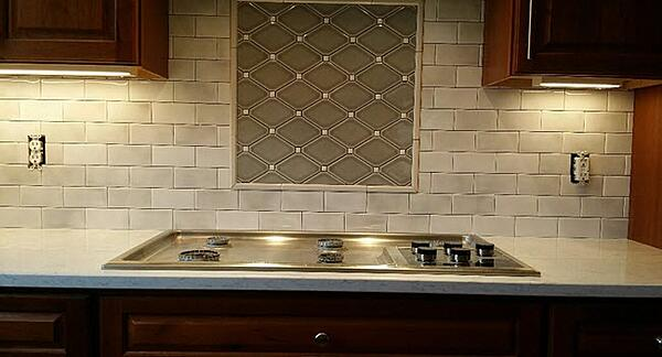 Subway Tile and a Custom Diamond Insert