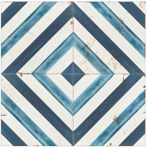 Blue Daze celebrates blue in a diagonal pattern that forms a diamond