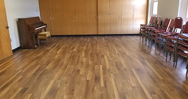 A Church Selects Floorte LVT for its Community Room