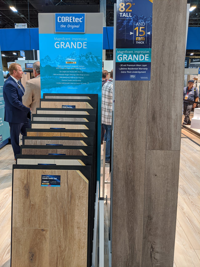 COREtec, the original LVT product brand, has done it again with its introduction of COREtec Premium Grande, an awe inspiring floor.