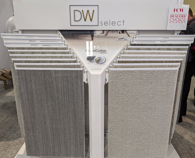 """Dream Weaver is introducing DW Select with a proprietary fiber technology called """"twist multiplier"""" that delivers enhanced durability with fashion-forward styling."""