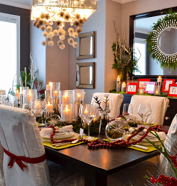 Make the table and settings festive and interesting