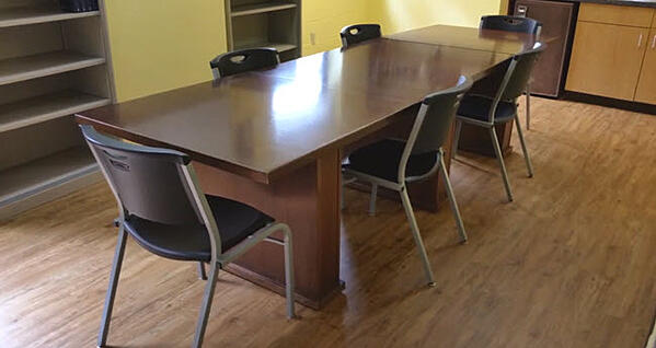 Another Salvation Army conference room with Karndean LVT floors.