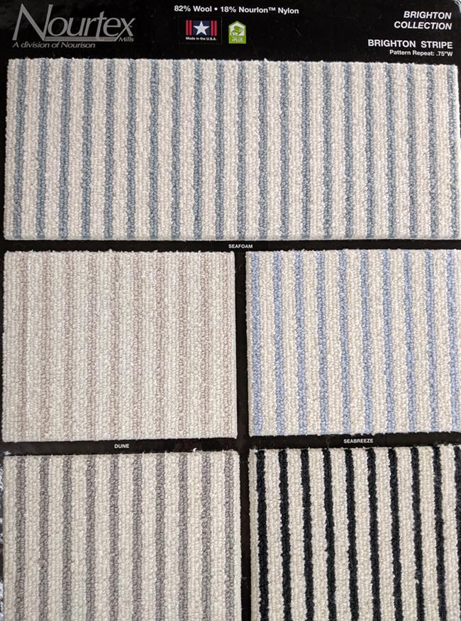 Brighton Stripe Broadloom wool carpet from Nourtex