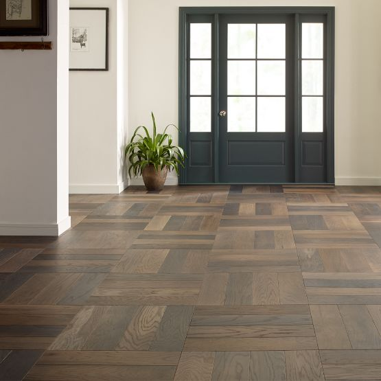 Entry way with Old World Herringbone