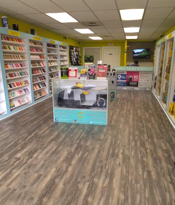 This phone store picked Shaw LVT for the same reasons: ease of maintenance and durability.