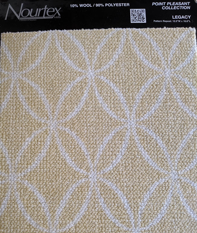 Nourtex Legacy in buttercup from the Point Pleasant Broadloom collection
