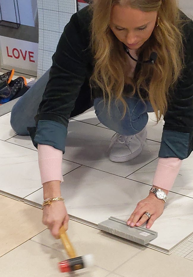 Revo Tile is a click fit installation and can be installed over a multitude of sub floors