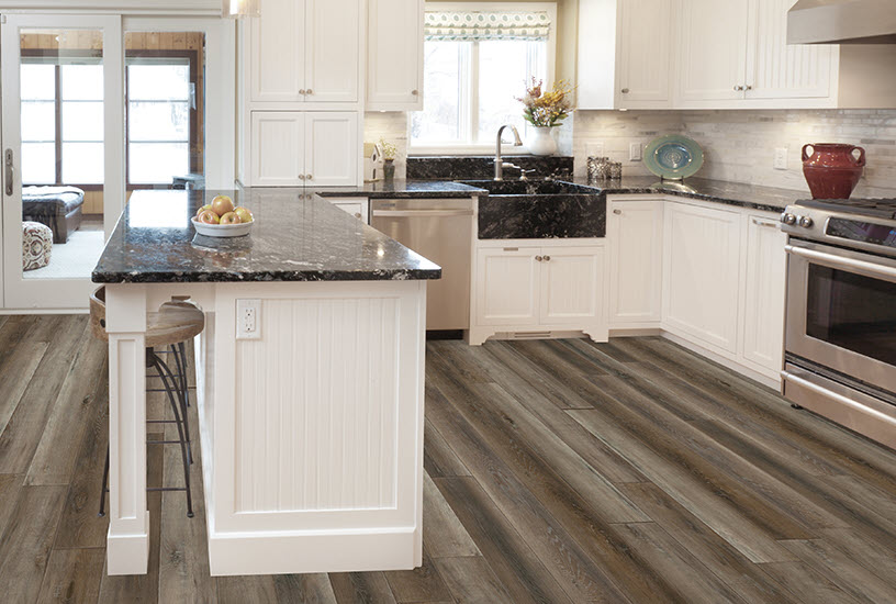 Skyview in color Cumulus is perfect in this farmhouse kitchen installation.