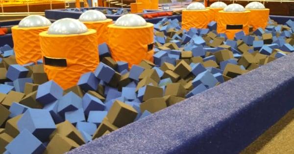 An Indoor Trampoline Park Picks Astro Turf Carpet