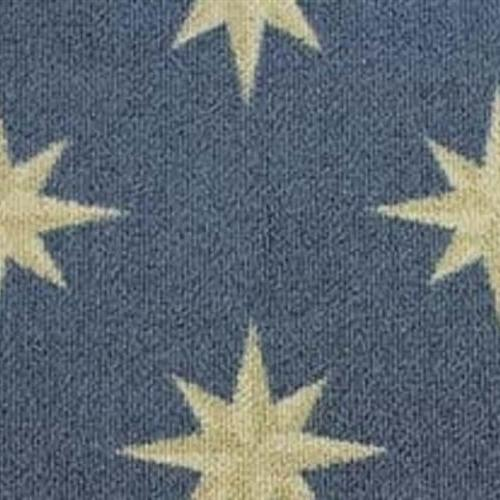 Nautilus Ultramarine 3469and brings a North Star motif to your floors