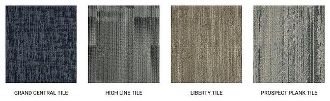 Stanton Carpet's new Stanton Street Decorative Commercial collection includes 17 carpet tiles and broadloom styles tailored for the decorative commercial market