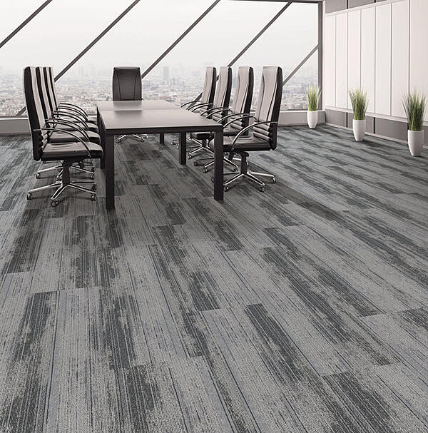 Prospect Plank tile in color Fog with the planks installed parallel to one another