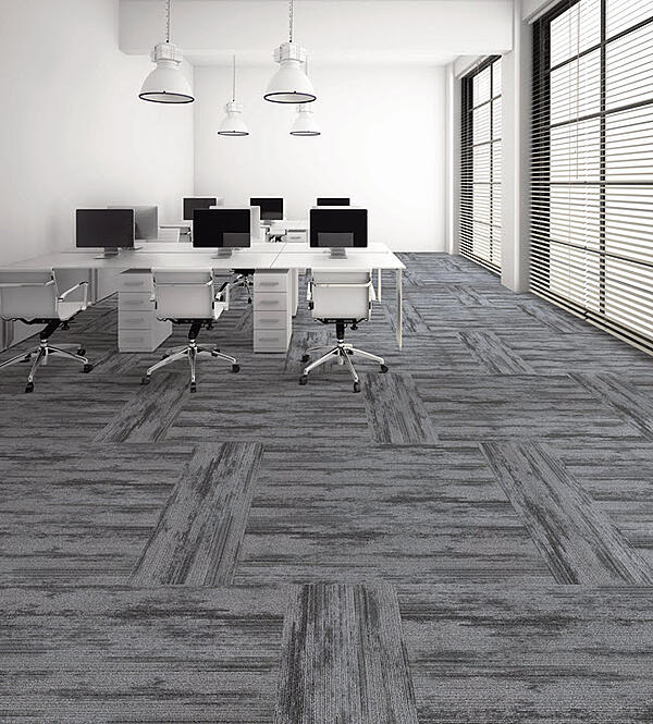 Prospect Plank in color Shadow installed in an alternating horizontal/vertical pattern