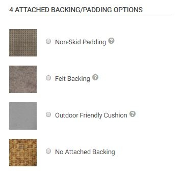 Step 4: What Kind of Backing Do You Want For Your Rug?