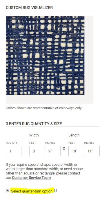 Step 3: Select the Quantity and Size of Your Rugs