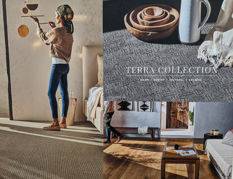 The Terra Collection is inspired by warm colorscapes and the earthy textures of Mexico.