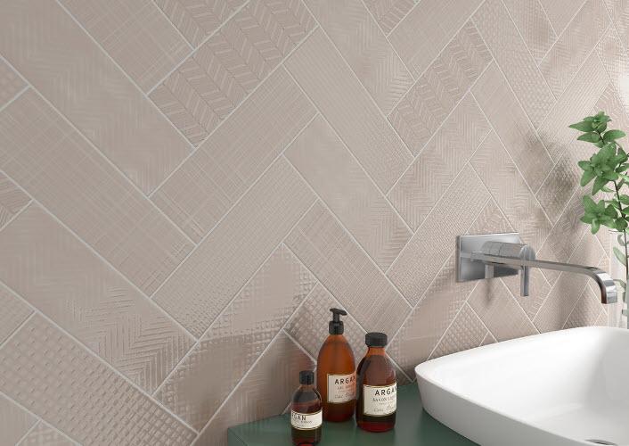 3 x 12 Patterned Tile – Herringbone – Porcelain