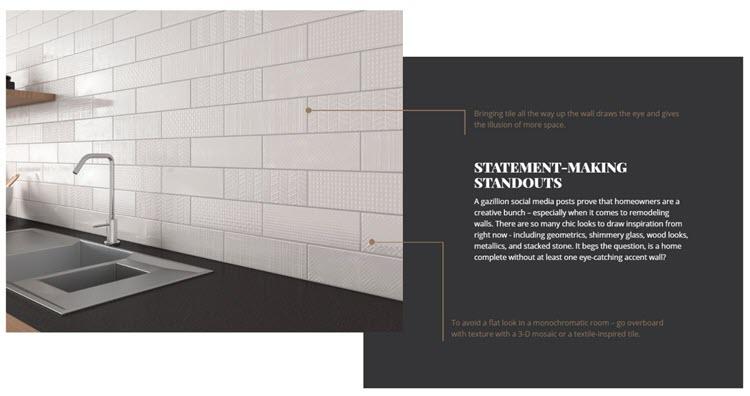 3x12 Patterned Subway Tile - Porcelain