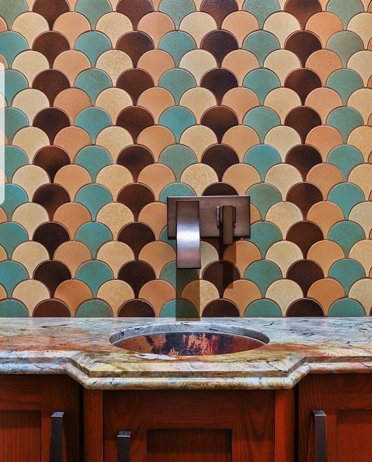 Custom Shape – Conche – Multi Tones - Porcelain Tile