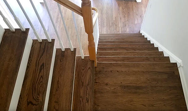 Custom Stain Stair and Landing on Site