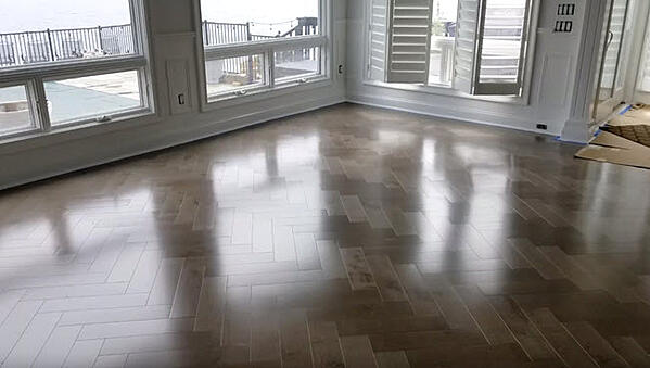 Mirage Maple Herringbone Color Greystone
