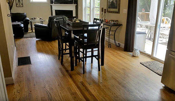 Red Oak Character Grade Hardwood with matte finish