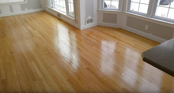 Red Oak Refinished hardwood flooring