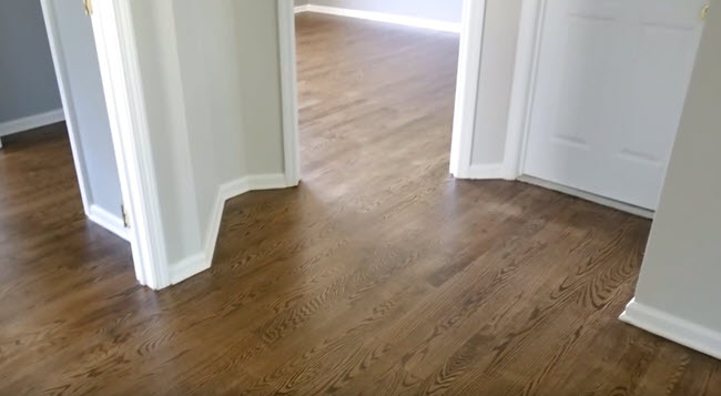 Red Oak Select Custom Stained on Site