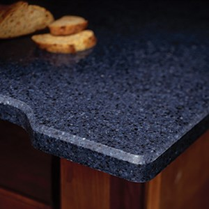 You'll find a range, too, of edges just like natural stone. Cambria, for example, offers 19 different edging options!
