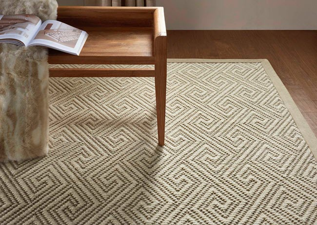 From Nourison's NatureWeave collection, Naturekey wool/sisal rug