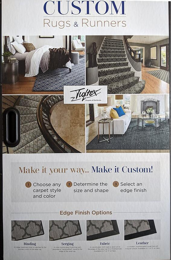 inding, Serging and Finished Runner Edges for Your Stair Runner