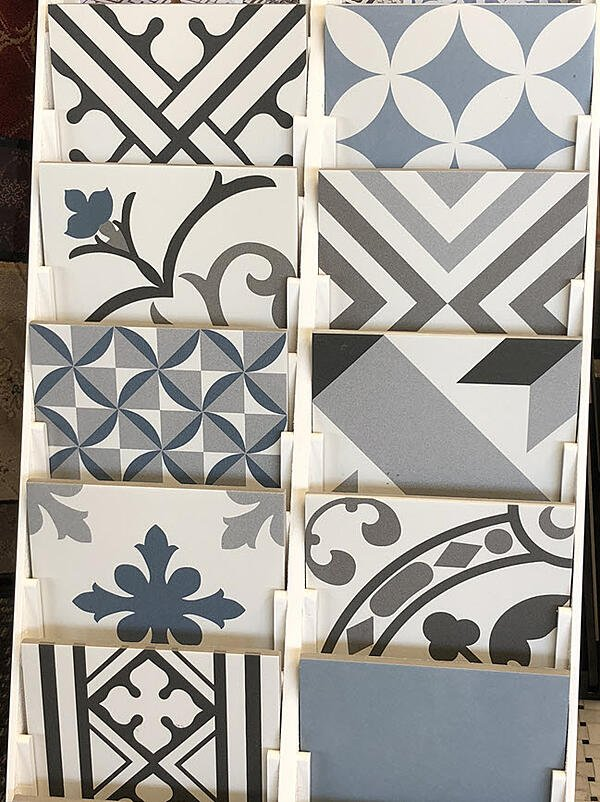 Try bold decorative patterned tile?