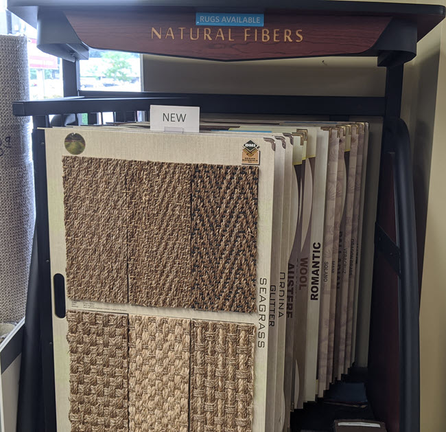 Natural Rug Fibers available at Floor Decor Design Center