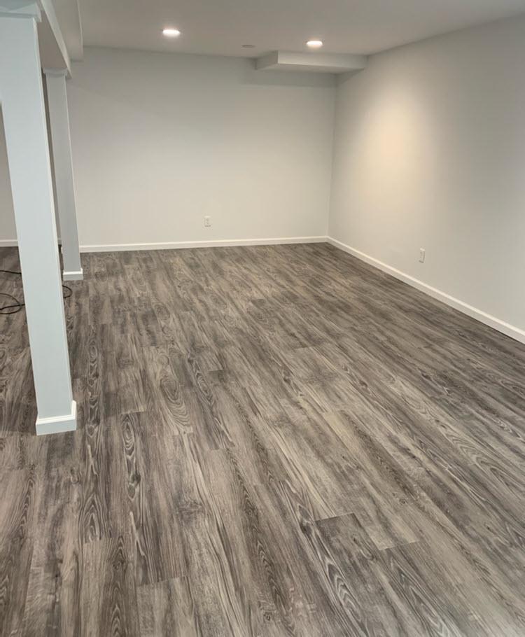 Lvt Vs Carpet What S Better For A, Vinyl Plank Flooring Basement