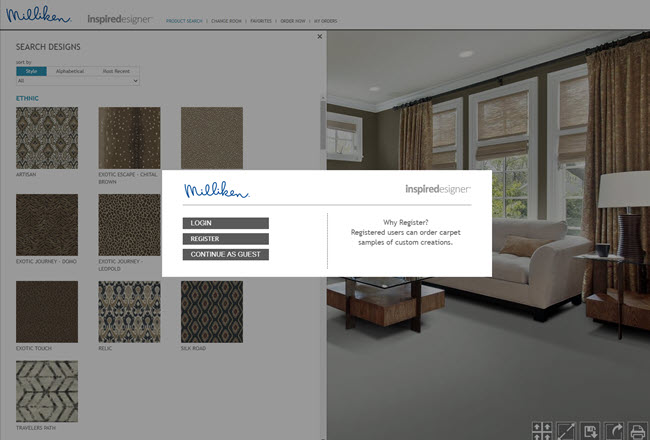 Milliken Carpet Inspired Designer Tool