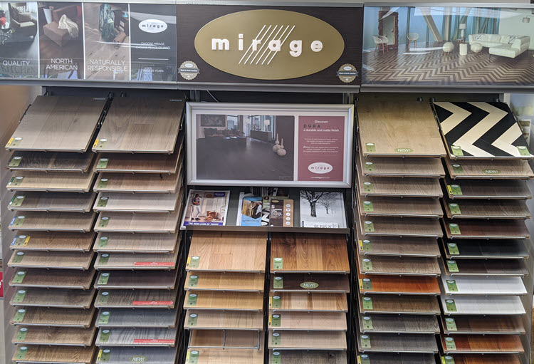 Mirage hardwood products are equally stunning
