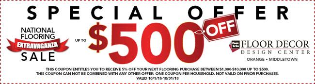 October National Flooring Extravaganza Sale