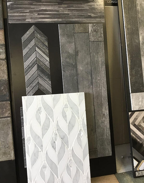 Randee Slotkin can help you select tile and flooring products for a laundry room and powder room remodel.