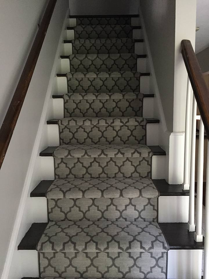 Here you see a Milliken carpet style. The look is both classic and contemporary.
