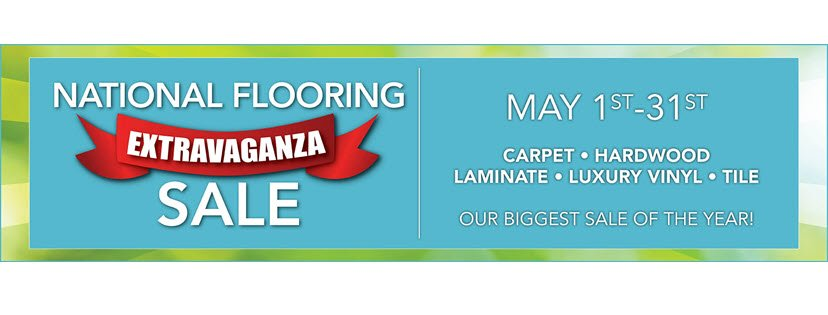 Shop For Floors During the May National Flooring Extravaganza Sale