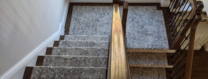 Persian Design Stair Runners for a Gorgeous Connecticut Home