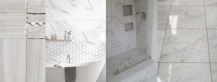 Feast Your Eyes on Marble Look Porcelain Tile
